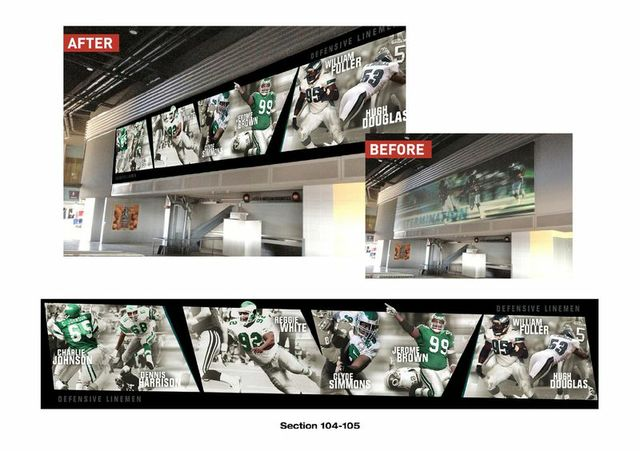 What the new concourse in sections 104 and 105 will look like post-project.