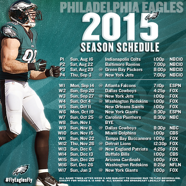 PhiladelphiaEagles2015Schedule